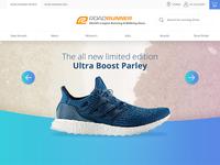 E-commerce Homepage for Online Shoe Retailer
