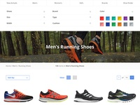 Product Overview Page for Road Runner Sports