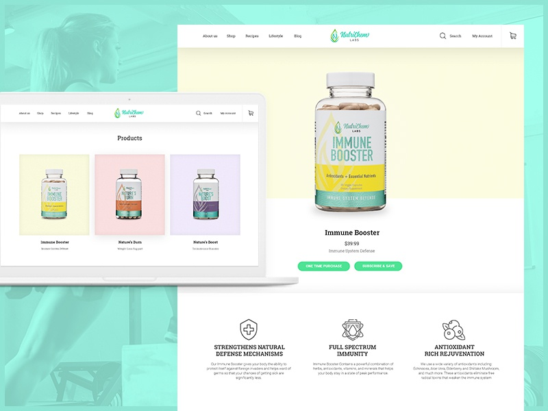 NutriChem Labs ecommerce uxdesign uidesign products fitness supplements dietary health