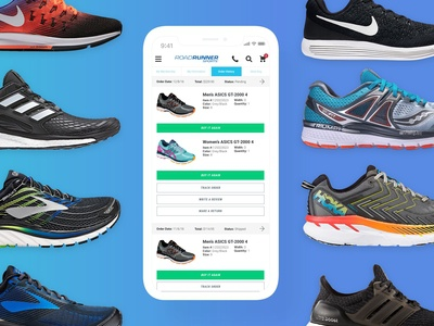 My Account Section - Road Runner Sports