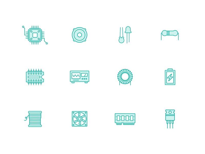 Electronics Components Iconsfree Download By Taimatsu Dribbble