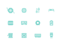 Electronics Components Icons(Free download)