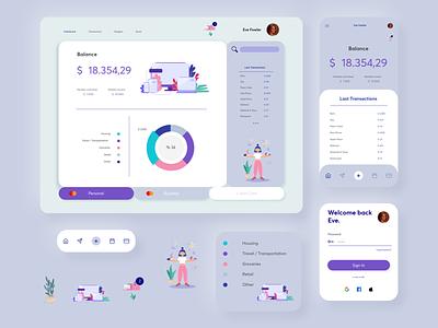 Budget Tracking UI modern clean web design web uidesign application app budget app budgeting budget ui design uiux ui