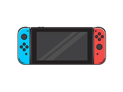 Nintendo Switch Illustration sticker minimal vector logodesign illustration digital illustration design illustration art icon design iconography logo icon illustrator illustration nintendoswitch nintendo console