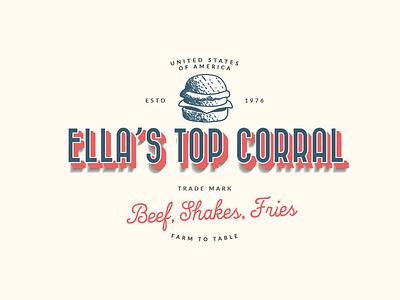 Logo Concept for Ella's Top Corral branding 99designs design american logo vintage modern