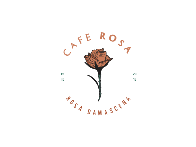 Cafe Rosa craft handdrawn hand drawn handcrafted old american logo retro typeface font type vintage