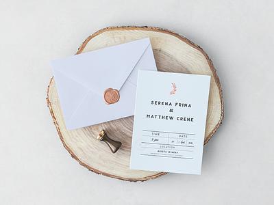 Wedding Invitation Design elegance hipster deco art elegant seal wedding invitation invitation save the date design vintage wedding