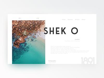 Shek O LP clean simplistic minimal typograph landing design landing ui web design web landing page