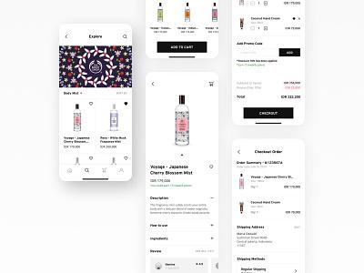 The Body Shop Indonesia - Mobile App (Concept) clean design cosmetics fragrance beauty ios mobile interface design ux ui exploration app