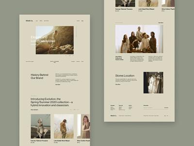 Stitch Co - Homepage art simple layout apparel website design graphics desktop artwork ux ui interface exploration design