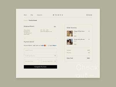 Fashion Apparel - Checkout Page apparel fashion website design website graphics icon interface artwork checkout ux ui exploration desktop design dailyui