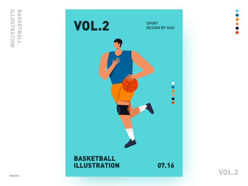BASKETBALL ILLUSTRATION sport illustration