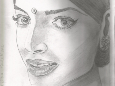Sketch Deepika Indian Actress