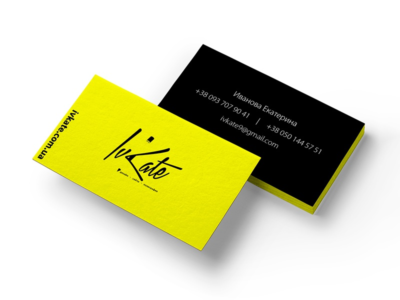 Designer business cards logo by kate ivanova dribbble my personal logo and business card design colourmoves
