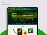 #08 UI daily challenge - Corporate agro website