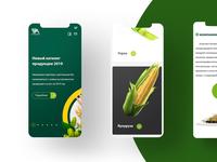 Corporate agriculture website redesign
