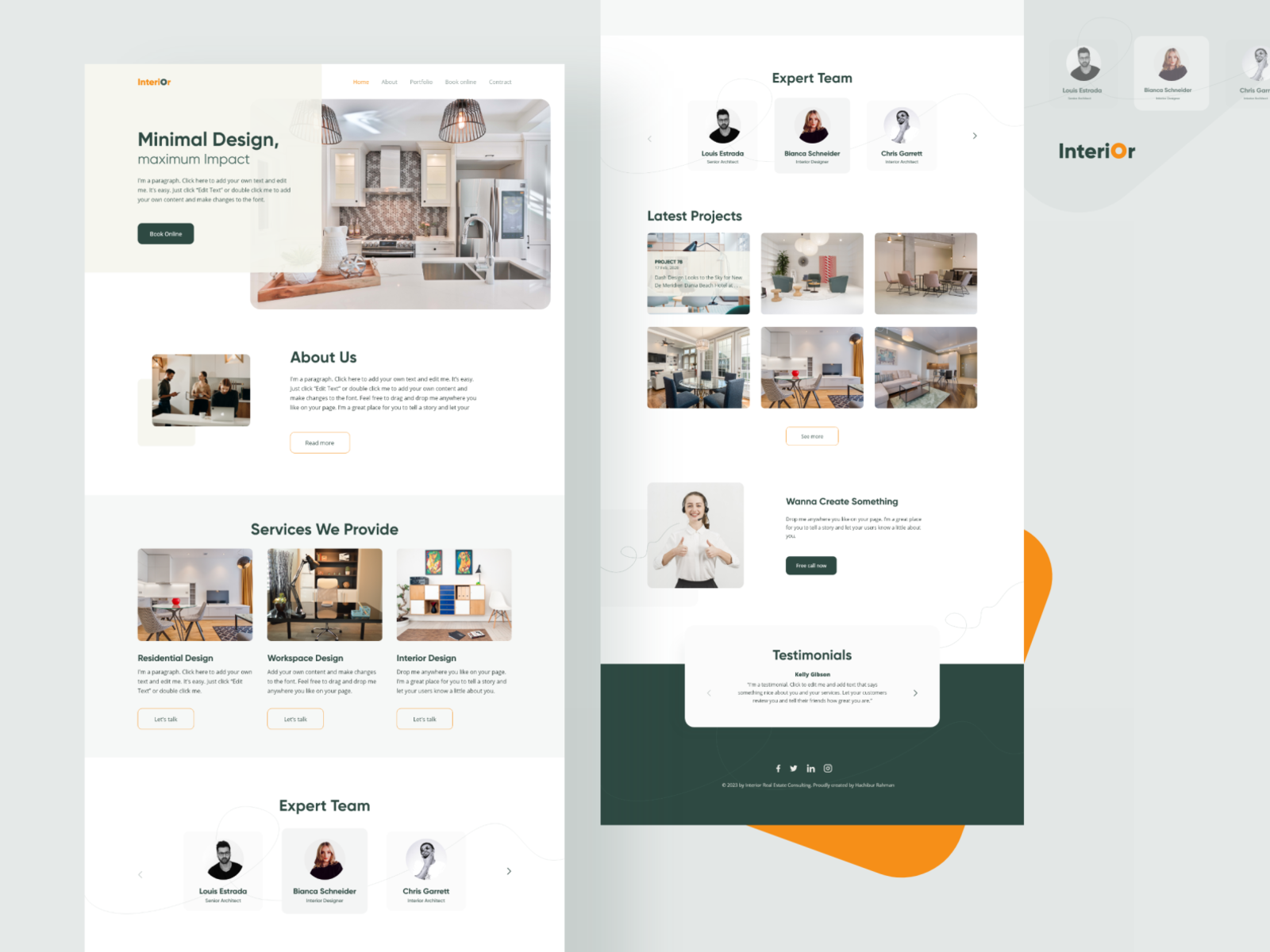 Interior Design Company By Hachibur Rahman On Dribbble