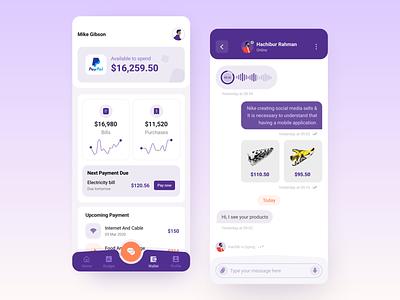 Socio Business App 3 wallet app budget app business networking social network social media socialmedia social app app design ux ui