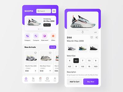SHOPIN E-Commerce App product app delivery business ecommerce online shop best dribbble shot mobile app design ux ui