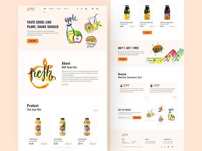 Juice Shop Website foodie food and drink juices website concept webdesign website shop juice juice bar food app online shopping online shop delivery best dribbble shot ux ui