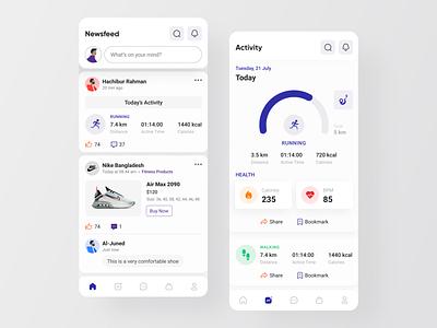 Fitbook community social app medical care medical app fitness app health app healthcare ecommerce mobile best dribbble shot app design ux ui
