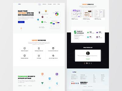 Software Company Website dailyui best dribbble shot minimal websites website concept website design webdesign website ux ui