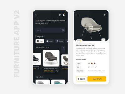 Furniture App v2 Dark