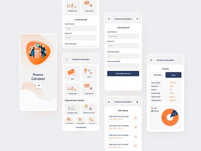 Finance calculator currency converter loan banking app ux app design