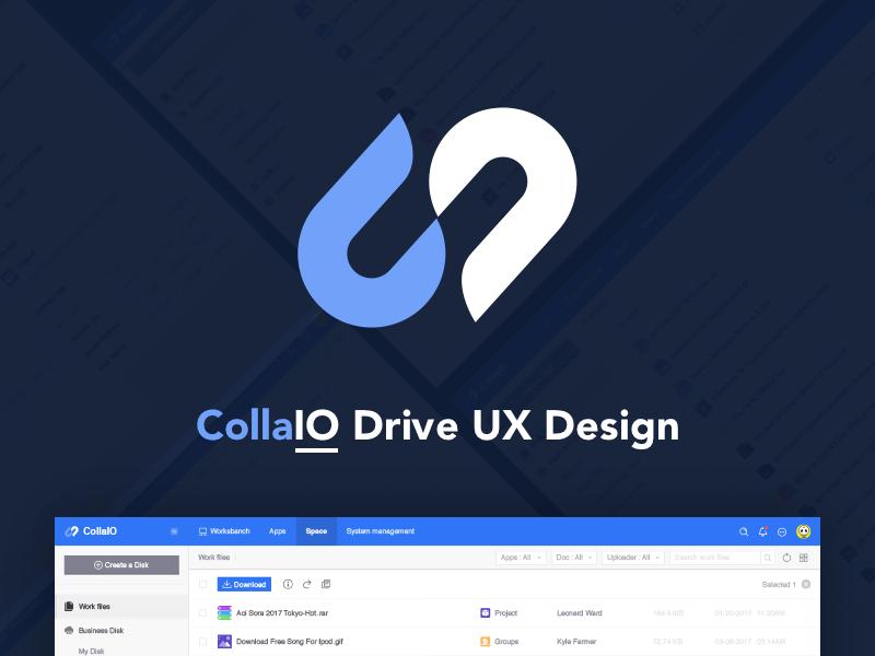 CollaIO Drive UX Design ( Concept ) concept storage file icons drive webpage