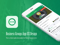 Business Groups App UX Design
