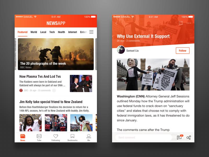 NewsApp UI article list ui app news