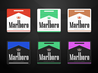 6 icons for Marlboro Cigarettes ( . Sketch file ) cigarettes marlboro icon