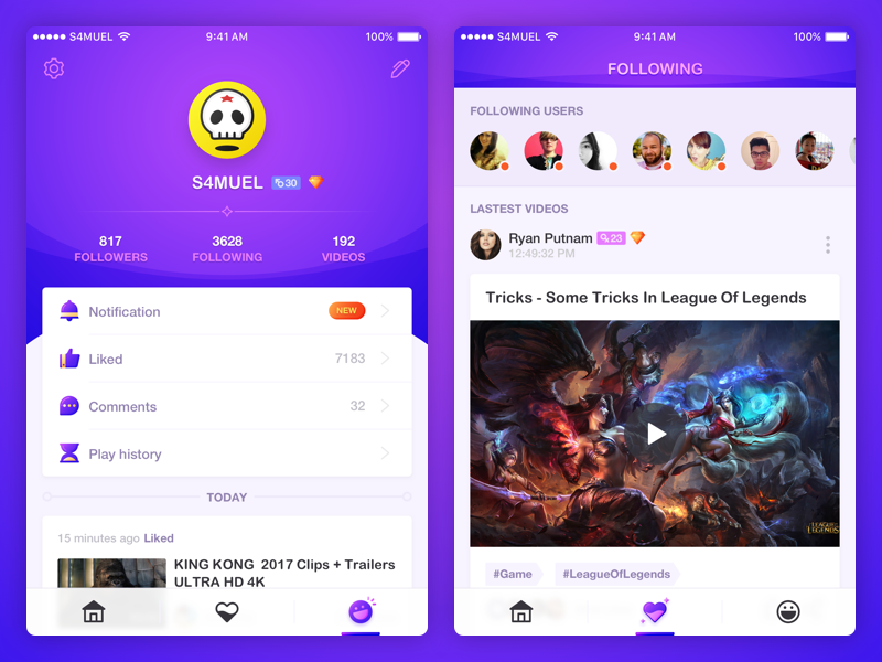 A Podcast App UI exercise tab-bar player profile video ui app podcast