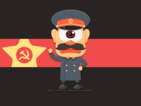 20 century Devil series illustration : Stalin