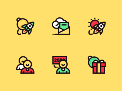 6 feature icons