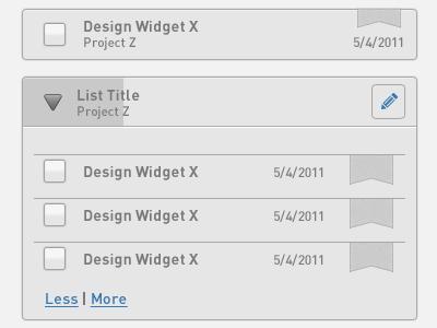 Zeggio application widgets tasks projects