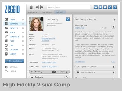 Zeggio High Fidelity Visual Comp process design example comp