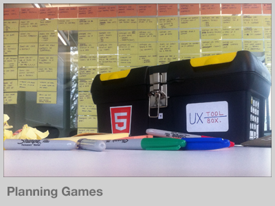 Planning Games design process example planning games ux