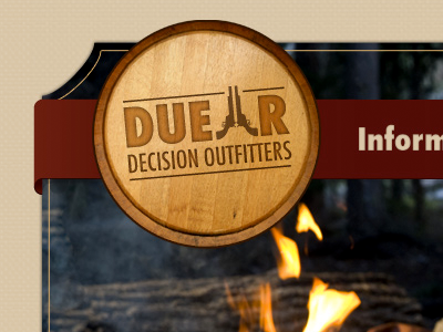 Duellr web page logo western