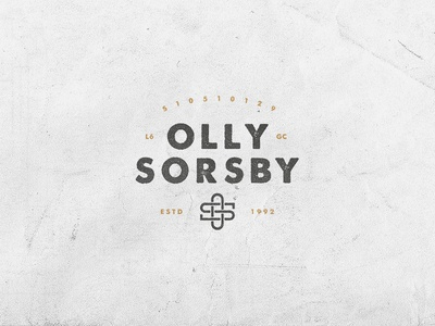 personal mark v2 olly sorsby os personal logo mark texture o s