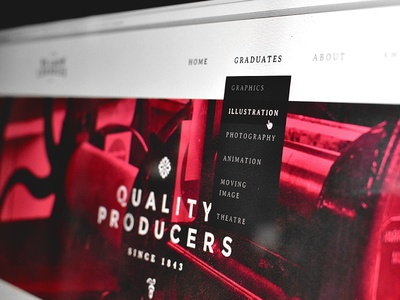 We Grow Cherries Website web clean simple flat drop down
