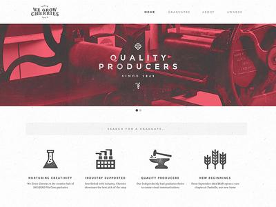 We Grow Cherries Website web minimal clean simple ui icons texture duotone cherries