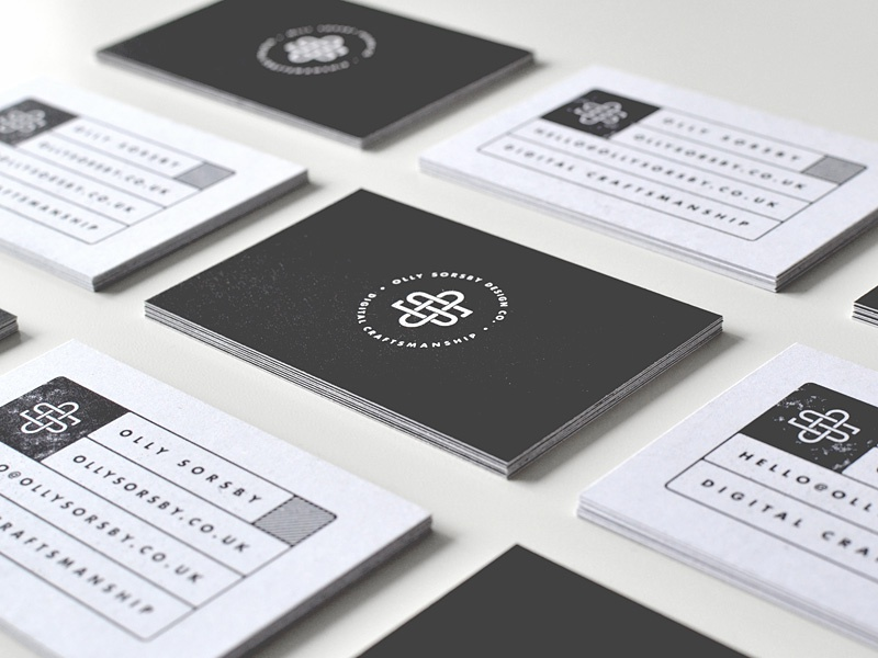 Personal Business Cards business card olly sorsby os personal logo monogram