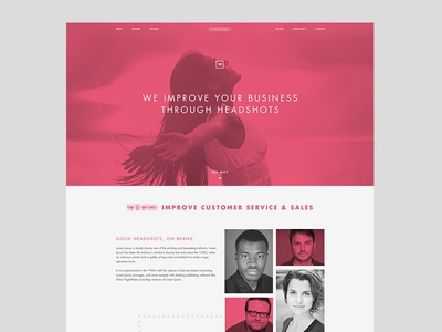 corporate headshot homepage