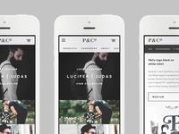 P&Co website developments