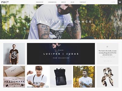 P&Co. Website Developments web clean simple minimal fashion