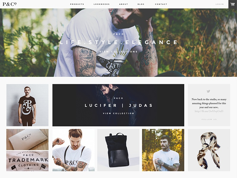 P&Co. Website Developments web clean simple minimal fashion
