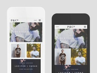 P&Co Mobile Developments mobile web clean minimal fashion