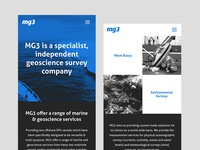 MG3 Website — mobile