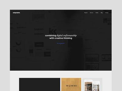 adaptable homepage home adaptable clean simple hero grid